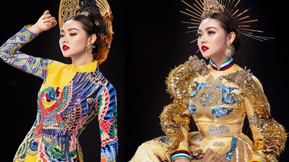 Cận cảnh bộ quốc phục đẹp nhất Hoa hậu Quốc tế 2019 của Tường San